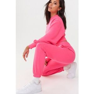 Neon Pink Joggers and Sweater Set